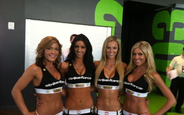 The Strikeforce ring girls for tomorrow night's Challengers 16 event (Credit: Kelli Hutcherson)