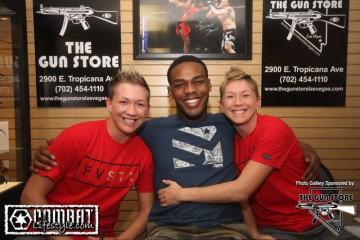 Jon Jones at the Gun Store (Tracy Lee/Combat Lifestyle)