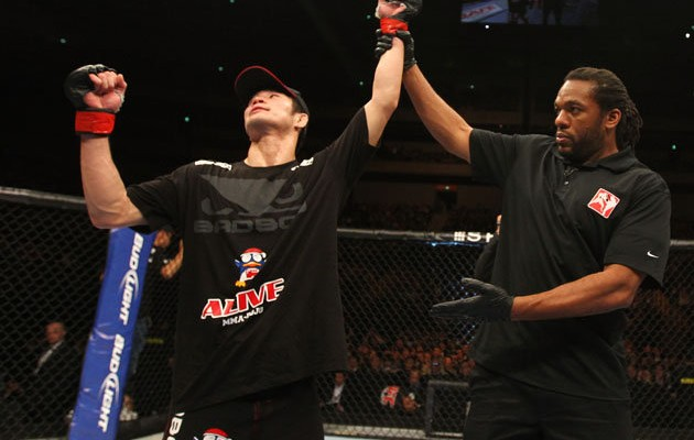 After a shakey debut, Hatsu Hioki will likely fight Jose Aldo for the title next (Getty/Cagewriter)