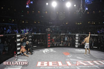 Pat Curran won the Bellator featherweight title at Bellator 60, and took the No. 3 ranking with it (Bellator)