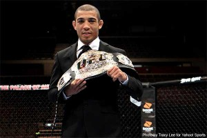 UFC featherweight champion Jose Aldo (Tracy Lee/Yahoo! Sports)