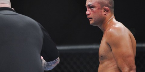 BJ Penn wears the wounds of his war with Nick Diaz at UFC 137 (James Law/Heavy MMA)
