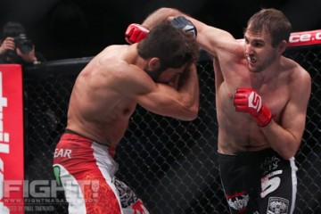 Ryan Couture (R) battles Conor Heun (Paul Thatcher/Fight! Magazine)