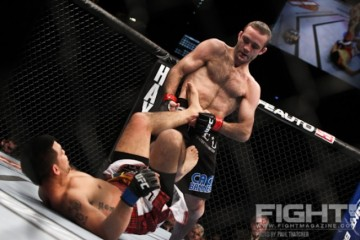 Jacob Volkmann (top) battles Efrain Escudero (Paul Thatcher/Fight! Magazine)