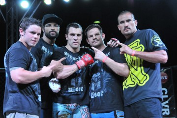 Josh Cavan (center) (Phil Lambert/The MMA Corner)