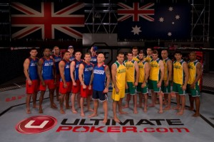 The TUF Smashes cast, including coaches Ross Pearson and George Sotiropoulos (UFC)
