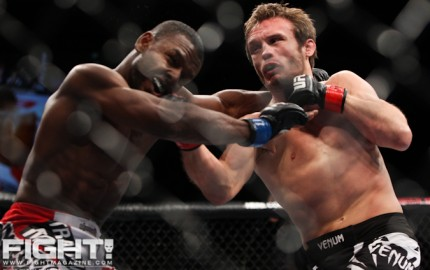 Pickett (R) is one of many fighters awaiting the return of Dominick Cruz (Paul Thatcher/Fight! Magazine)