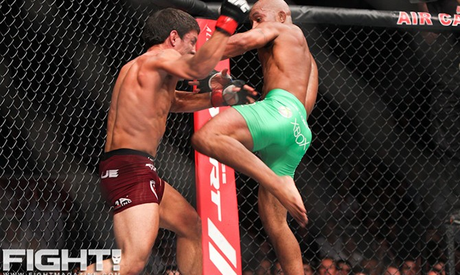 Demetrious Johnson (r) outlasted Joseph Benavidez en route to the flyweight title (Paul Thatcher/Fight! Magazine)