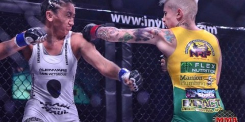 Hyatt (R) connects with a left hand (Jeff Vulgamore/The MMA Corner)