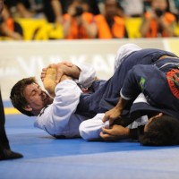 Rafael Mendes attacks with the &quot;berimbolo&quot; (Mike Coln/Gracie Mag)