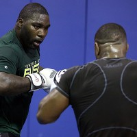"Anthony ""Rumble"" Johnson (L) (Dave Mandel/Sherdog)"