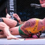 Hyatt secures an armbar (Jeff Vulgamore/The MMA Corner)