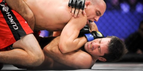 Jesse Taylor (top) (Chris Dela Cruz/Sherdog)