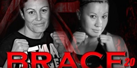 Kerry Barrett (L) will face off with Arlene Blencowe at BRACE 20 (BRACE MMA)