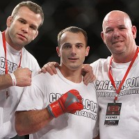 Dakota Cochrane (center) celebrates with his team (Dave Mandel/Sherdog)