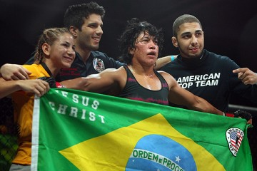 No. 3 Gomes (center) will face Charmaine Tweet at Invicta FC 6 (Dave Mandel/Sherdog)