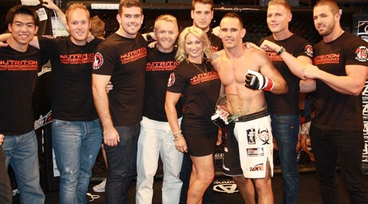 Shane Gregory (third from right) (Eternal MMA/Facebook)