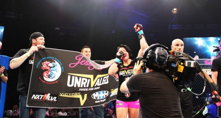 Rose-Clark celebrates her win (Unrivaled/Victory Management)