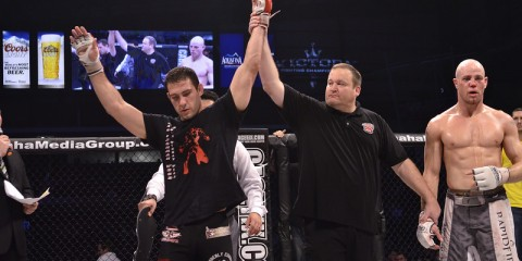 Jay Wood has his hand raised (Jerry Chavez/Victory Fighting Championship)