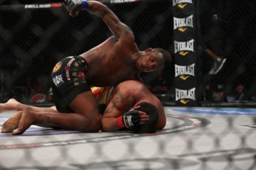 Bubba Jenkins (top) looks to drop a right hand (Will Fox/Sherdog)