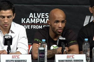 Benavidez (l) and Johnson will meet again for the flyweight title (Sherdog)