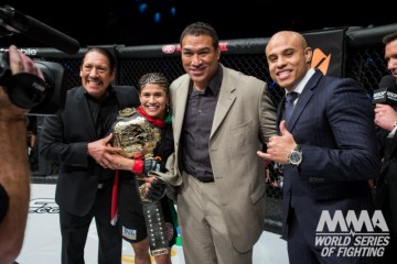 Jessica Aguilar (second from left) (Lucas Noonan/WSOF)