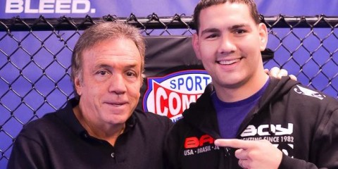 Ring of Combat President Lou Neglia and UFC champion Chris Weidman (Brian Matus Photography)