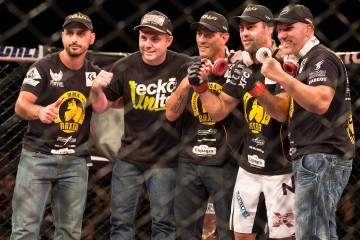 Thiago Meller (second from right) (Fernando Mucci/Olhar do fã no MMA)