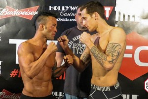 Jorge Gurgel (L) faces off with Mike Ricci (Jeff Vulgamore/The MMA Corner)