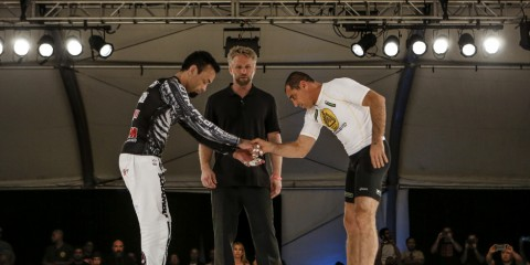 Eddie Bravo (L) and Royler Gracie (Metamoris)