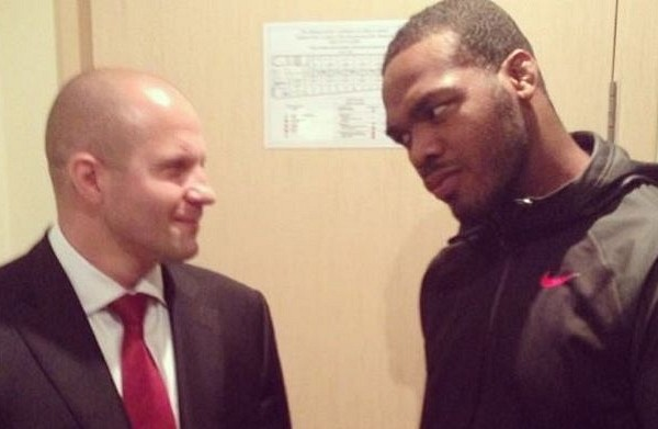 Fedor (L) with Jones (R) (Source: Instagram (http://instagram.com/p/ZqxbSXMDPu/))