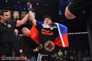 The Russian fighter successfully defended his title for the third time and currently awaits a new No. 1 contender (Bellator)
