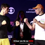Antonio Carlos Jr. (L) faces off with Vitor Miranda