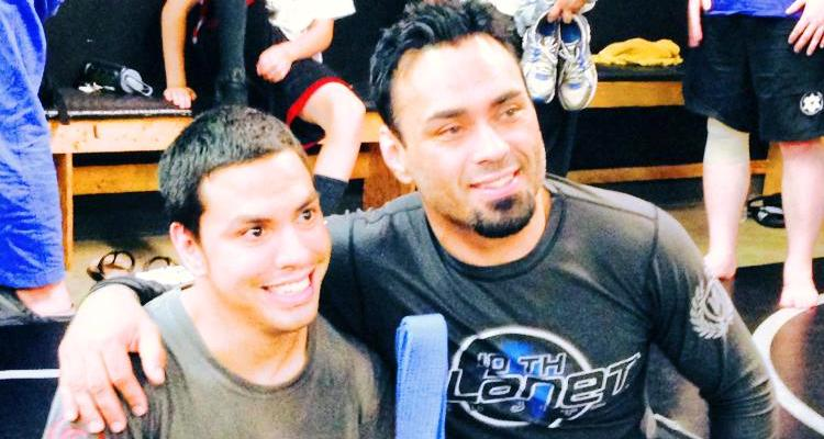 Brandon Ryan (L) with Eddie Bravo