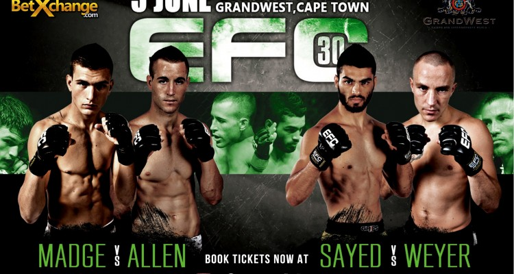 EFC 30 - FULL FIGHT CARD