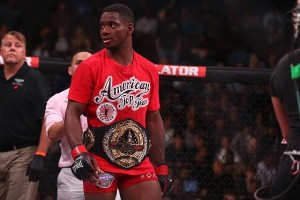 Brooks rose to the occasion and captured the interim championship at Bellator 120 (Dave Mandel/Sherdog)