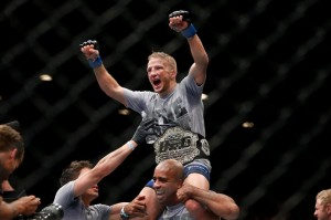 It was complete and utter domination by the new bantamweight champion, T.J. Dillashaw (Esther Lin/MMA Fighting)