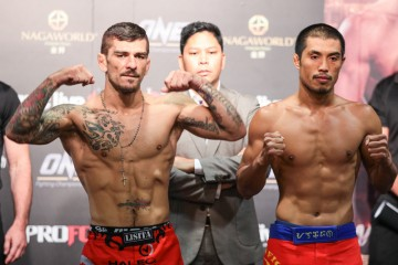 Rob Lisita (L) and Eric Kelly (ONE FC)
