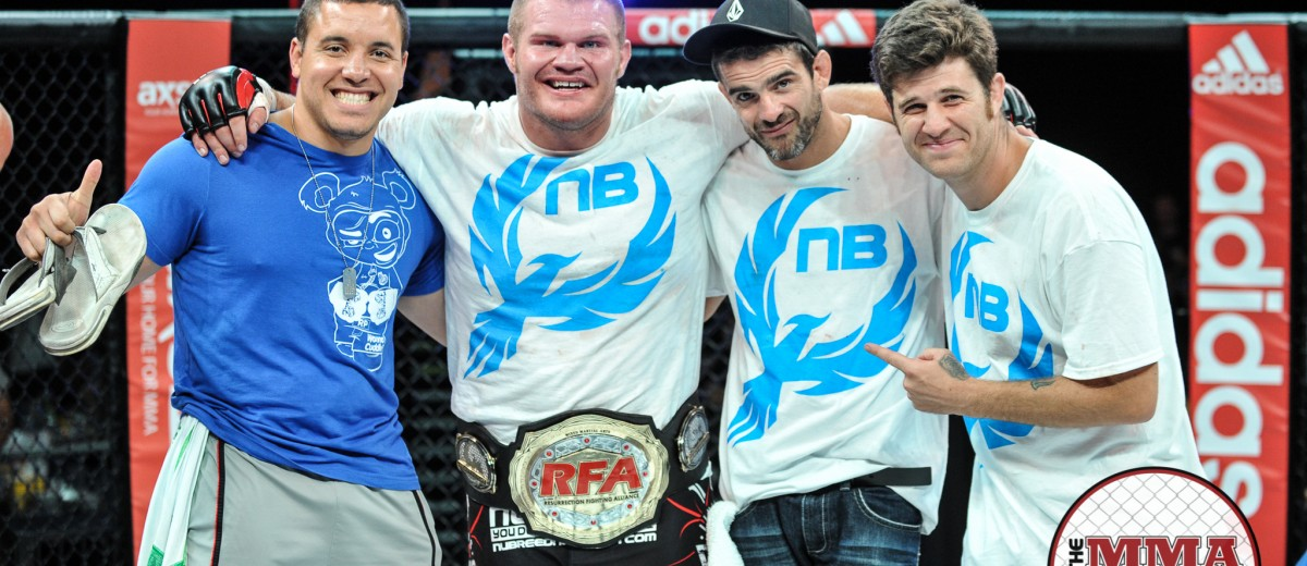 Josh Copeland (second from left) (Phil Lambert/The MMA Corner)