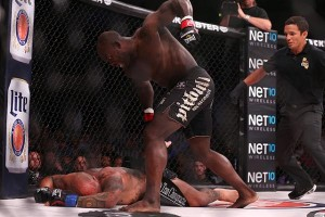 Melvin Manhoef earned a title shot with his knockout of Doug Marshall. (Dave Mandel/Sherdog)