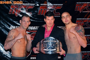 Victor Valimaki, Mark Pavelich and Jared Kilkenny (Andy Cotterill/Sherdog)