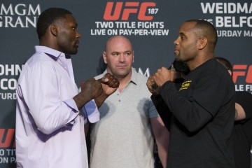 Johnson (L) vs. Cormier (R) (Esther Lin/MMAFighting)