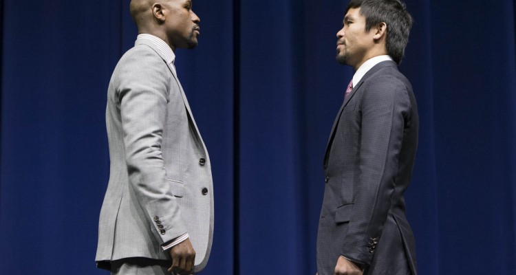 Mayweather (L) vs. Pacquiao (R) (Esther Lin/Showtime)