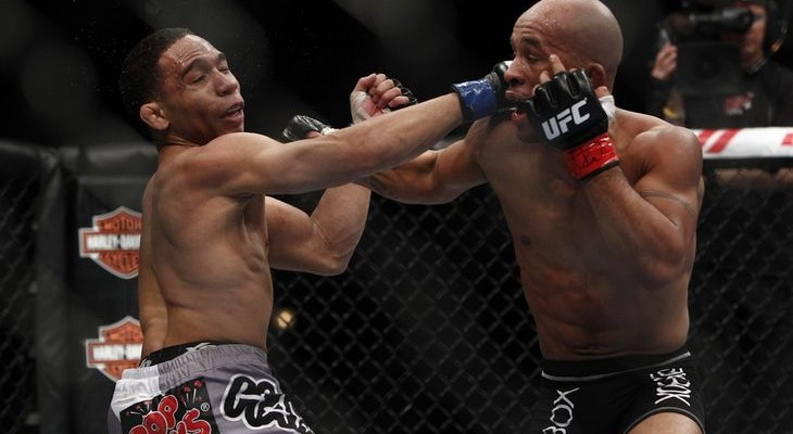 John Dodson (L) vs. (Demetrious Johnson (R) Esther Lin/ MMAFighting)