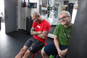 Miguel Cotto (left) and Freddie Roach (right) (Twitter/@RealMiguelCotto)