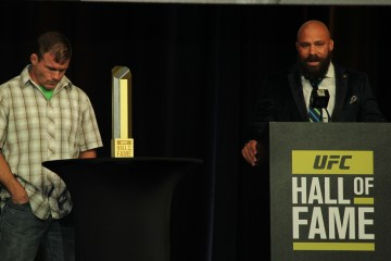 UFC Hall of Fame Inductees Matt Hughes (R), Franke Trigg (L) (José Youngs/The MMA Corner)