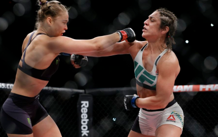 Rousey (L) vs. Correia (R) (Esther Lin/MMAFighting)
