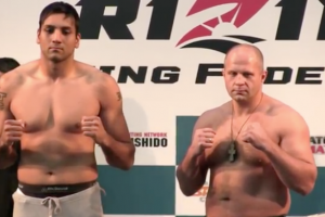 Jaideep Singh (L) vs. Fedor Emelianenko (R) (Screenshot/RFF Youtube)