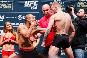 Jose Aldo (R) vs. Conor McGregor (L) ( Esther Lin/MMAFighting)