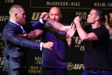 Conor McGregor (l) vs Nate Diaz (Jeff Sherwood/Sherdog)
